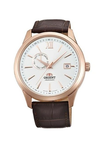 Orient gold Orient Men Watch Mechanical Contemporary Brown Crocodile Textured Leather Strap Watch ORFAL00004W D9246ACA52EE38GS_1