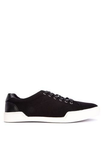 BENCH black Plain Lace Up Sneakers 6D6DBSH390201CGS_1