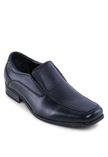 壓紋拼接esprit outlet hong kong商務皮鞋, 鞋, 皮鞋