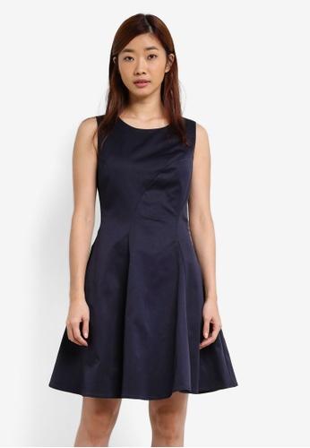 ZALORA navy Grosgrain Dress D3035AAE28F76EGS_1