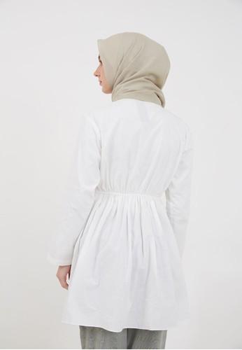 Hijabenka white Sephia Kandra Drawstring Tunic White 87278AA2395608GS_1