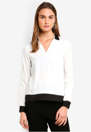 Vero Moda white Free Long Sleeve Shirt AFBDAAA534D455GS_1