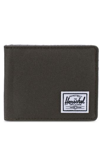 Herschel grey and green Roy RFID Wallet 77CA0AC34C6B26GS_1