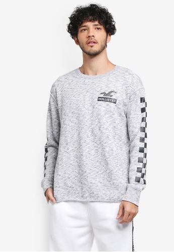 Hollister grey Crew Neck Sweatshirt 9CCAEAA7C1677CGS_1