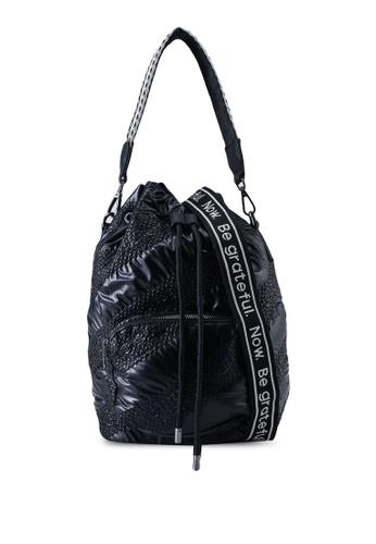 Desigual black Padded Gathered Sack Bag 15857ACDC6A243GS_1