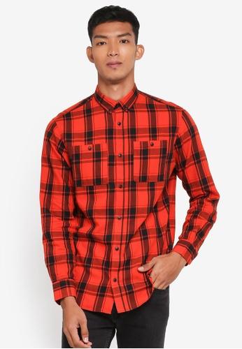 Jack & Jones orange Jason Worker Shirt B9F4EAA811050DGS_1