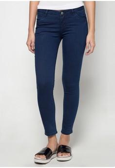 Low waist, Skinny Tapered Denim Pants