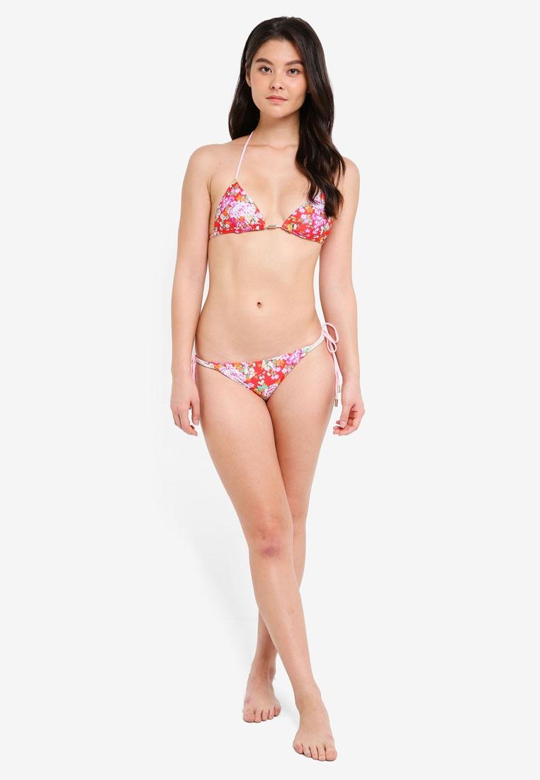 Yshey Anne Red Reversible Set Bikini Floral 4w4nPBrFq
