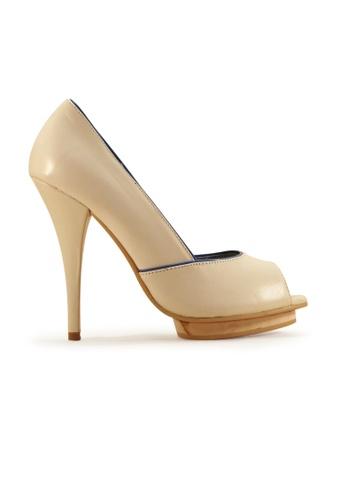 Gripz white Peep Toe Platform High Heels 1F1FESHC7C3EBEGS_1