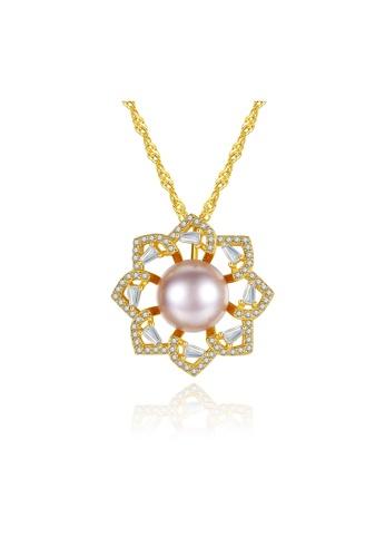SUNRAIS silver High-grade colored stone silver flower necklace D9B42AC1D38A68GS_1
