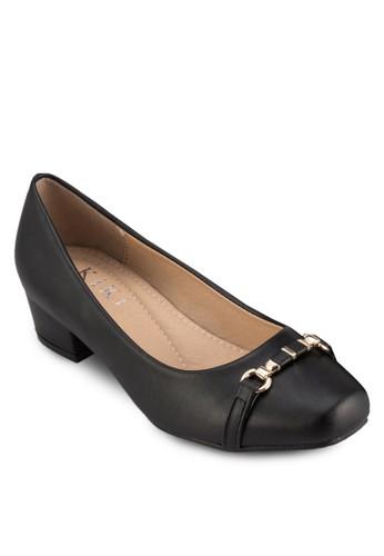 扣環飾粗跟低esprit高雄門市跟鞋, 女鞋, 高跟鞋
