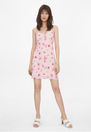 Pomelo pink Mini Orchid Print Dress - Pink 347BAAA49C3F33GS_1