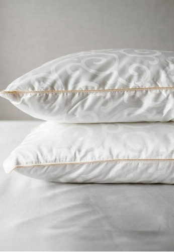 """Linen & Homes white Serenity Bamboo Pillow King Size (20 x 40"""") 8C932AC53CE6BFGS_1"""
