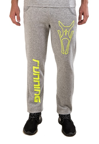 AMNIG grey Amnig Unisex Sports Running Sweatpants  (Light Grey) AM133AA10FNDMY_1