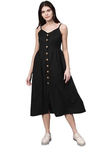 SASSAFRAS black Black Button Strappy Midi 4F06EAADDB5613GS_1