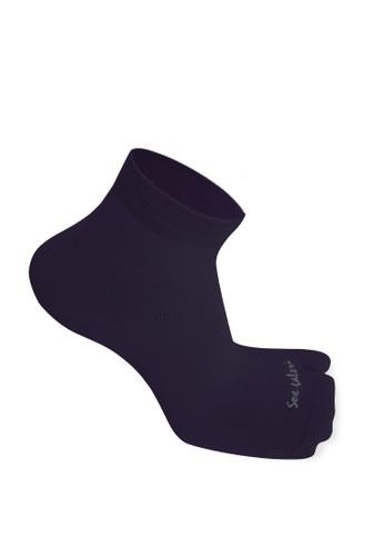 SOXGALERI purple Sox Galeri Anti-Bacterial Cotton Thumb Ankle Socks for Women 42C7FAA7F73228GS_1