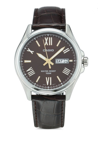 Casio brown Casio Watch MTP-1377L-5AVDF 13790AC98734C6GS_1