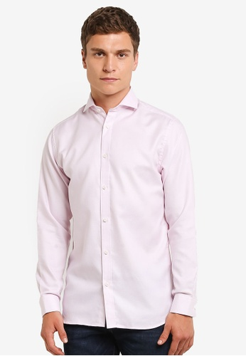 Selected Homme pink Long Sleeve Shirt SE364AA0RMD1MY_1