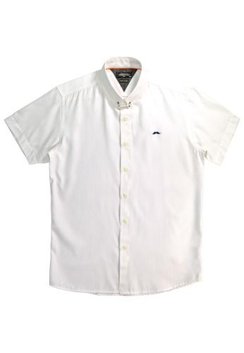 Private Stitch white Private Stitch Signature Moustache Shirt 3CE4BAA517A94DGS_1