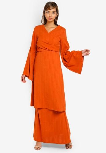 AfiqM orange Kenanga Drape Kurung 4F212AA598708CGS_1