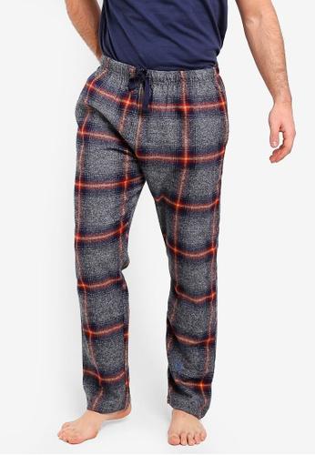 Burton Menswear London 灰色 格紋長褲 FE00AAAB42E289GS_1