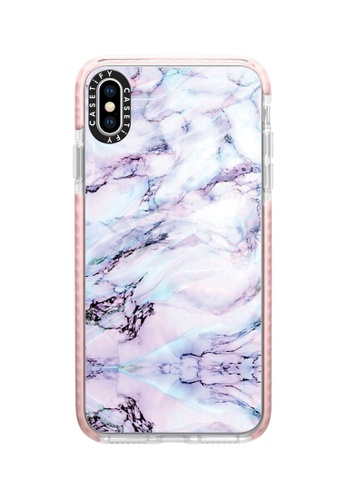 Casetify pink and multi Marble Swirl Protective Impact Case with Camera Ring For iPhone XS Max - Pink C3E65AC1E9914AGS_1