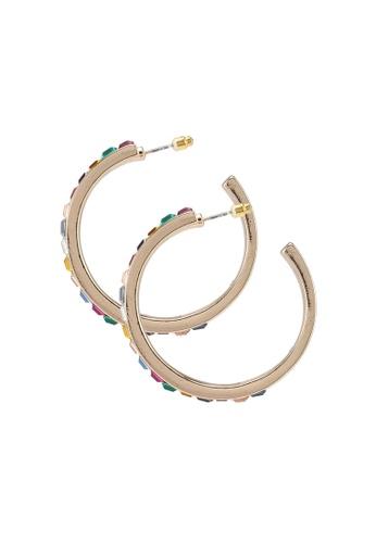 ALDO 多色 鑽飾圓圈耳環 A7564ACB84B811GS_1