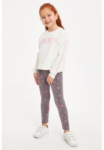DeFacto grey Girl Knitted Bottom Leggings 81D80KA7981090GS_1