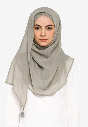 Bokitta green Sage Maxi Instant Hijab 59B35AA81A6074GS_1