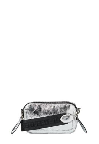 KARL LAGERFELD silver K/Ikonik 3d Pin Camera Bag 3AA31ACB9B22ABGS_1