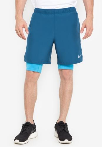 "Nike blue Men's Nike Challenger 2-In-1 7"" Shorts 1928EAA61475FAGS_1"