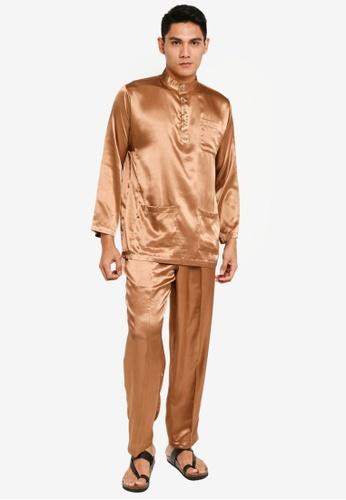 Gene Martino brown Tradisional Baju Melayu 447C7AAEE7397BGS_1
