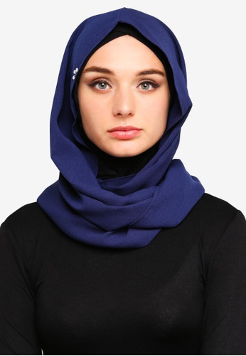 Zalia blue and navy Basic Snood E4A17AA38F01F1GS_1