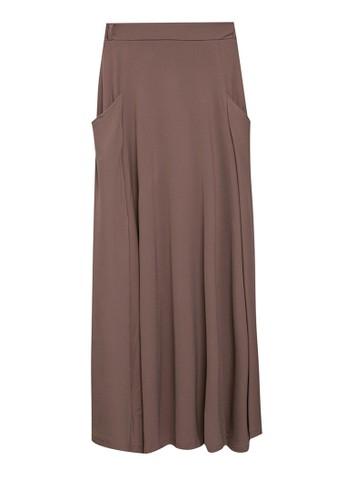 Imperial brown Vega Flare Skirt 2D083AA7880096GS_1