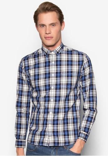 格紋長esprit 品質袖襯衫, 服飾, 格紋襯衫