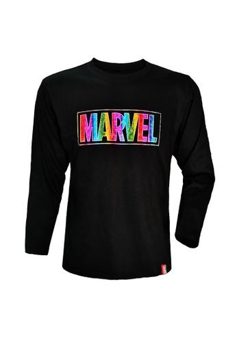 MARVEL black MARVEL Avengers Men Long Sleeve T Shirts (BLACK) VIM20701U A4FE3AA2453A68GS_1