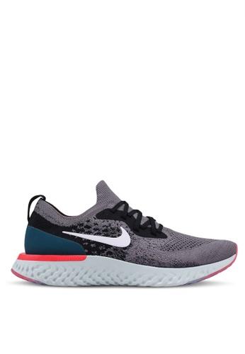 Nike grey Nike Epic React Flyknit Shoes B80EDSH1908601GS_1