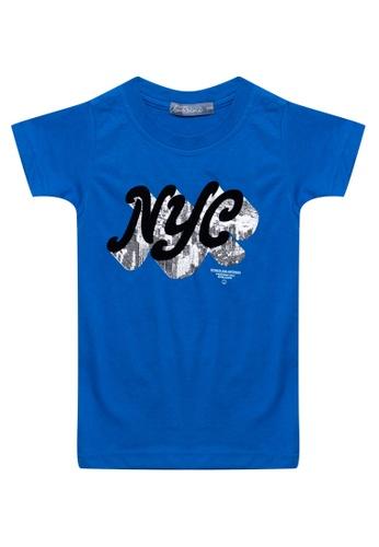 BOSSINI KIDS blue Round Neck T-Shirt CC35FKAD986D74GS_1