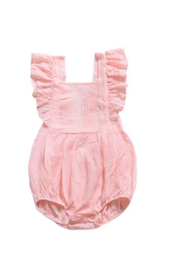 RAISING LITTLE pink Narita Romper - Pink C0728KA87DCAABGS_1