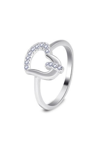 SC Tom Silver silver Heart Ladies Stone Ring-TRS169 SC872AC43KBCPH_1