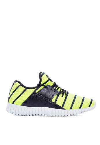 Life8 green Flex Pro Stripe Knit Spring Sport Shoes-09357-Neon LI286SH0RN2BMY_1