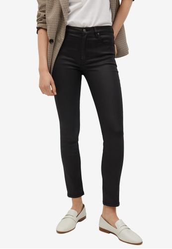 Mango black Coated Isa Crop Skinny Jeans 2C77CAA4521B68GS_1