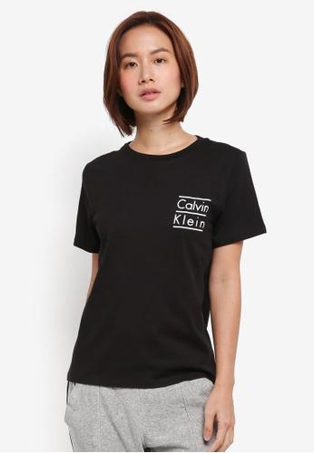 Calvin Klein black Short Sleeve Crew Neck Top - Calvin Klein Underwear A0E3DAADC8F7A1GS_1