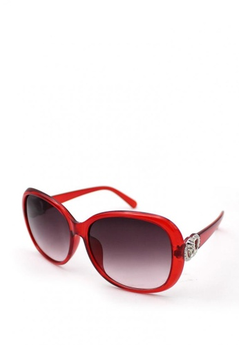 Peculiar and Odd red Oversized Round Floral 9578 Classic Sunglass DFDDBGLE0D7D04GS_1