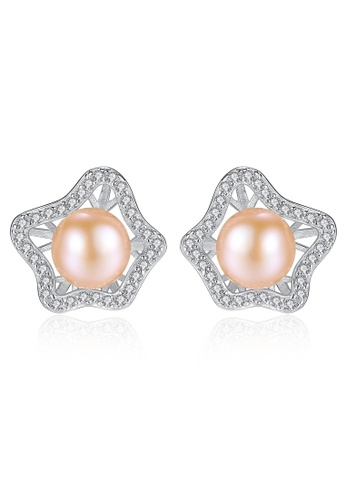 A.Excellence pink Premium Pink Pearl Elegant Earring D929AAC86478B4GS_1