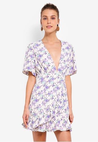 69bbf227dc0c Buy Glamorous Cream Lilac Bloom Ladies Woven Dress Online on ZALORA  Singapore