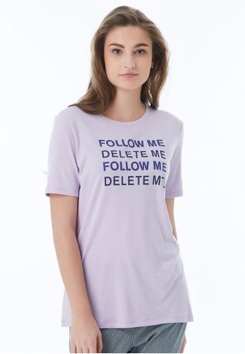United Colors of Benetton purple Printed T-shirt 85493AAEA17BB3GS_1