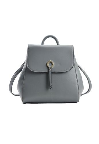 Lara blue Women's PU Leather Flap Backpack - Green 0FB97AC3B28493GS_1