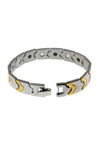 Elfi Stainless Steel Magnetic Power Energy Health Bracelet Bangle 06