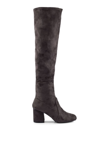 Miss Selfridge grey Kittie Over The Knee Boots MI665SH0RV29MY_1
